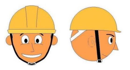 工地用安全帽正確佩戴方法